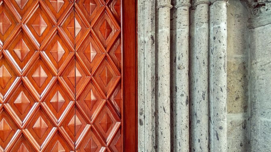Texturas Mexico Rombo Geometry Backgrounds Seamless Pattern Full Frame Pattern Textured  Close-up Architecture Wooden Architectural Design Traditional Building The Architect - 2018 EyeEm Awards Closed Door Architectural Detail LINE