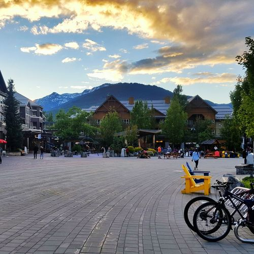 Whistler Britishcolumbia Canada Mountain Cloud Bicycle Clean Streets Vanilla Sky Sunlight Peaceful Peaceful Evening Evening Light Adapted To The City