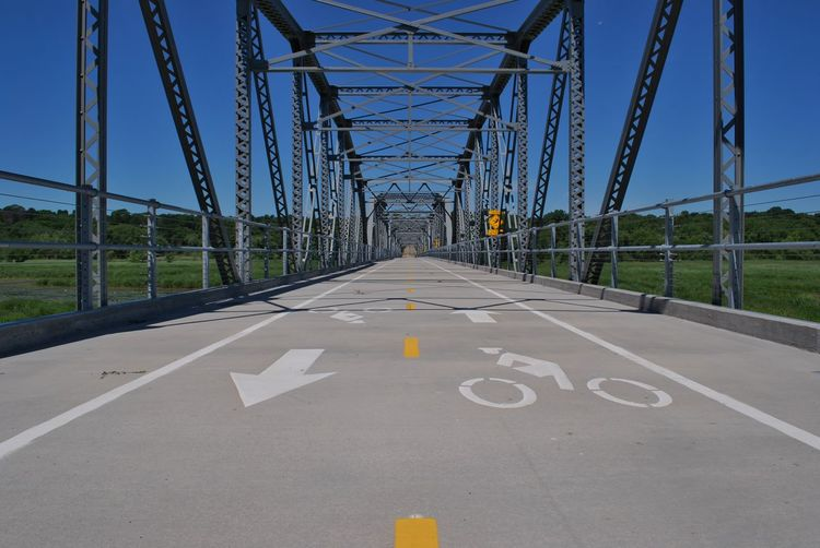 Architecture Bike Path Blue Sky Blue Sky Background Bridge Man Made Structure Metal Nature Walking Path