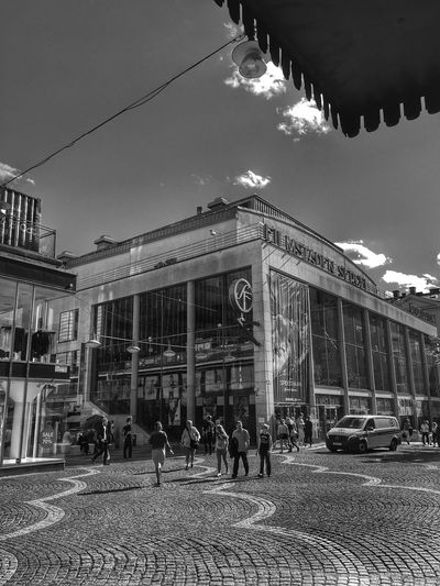 Streetphotography Outdoors City Large Group Of People Built Structure Sky Bnw_street Bnw_friday_eyeemchallenge