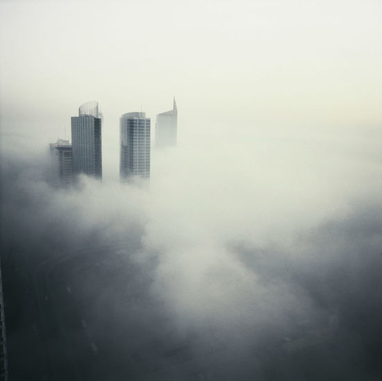 dawn memories Air Pollution Architecture Building Exterior Built Structure City Cityscape Day Flying High Fog Nature No People Outdoors Sky Skyscraper