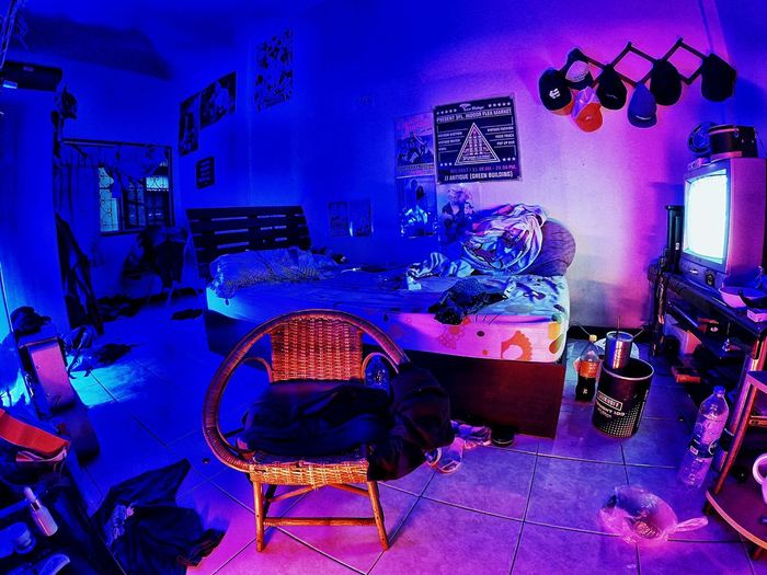 room Music Arts Culture And Entertainment Nightlife Performance Night Lighting Equipment Technology Indoors  Light - Natural Phenomenon Table Blue Illuminated