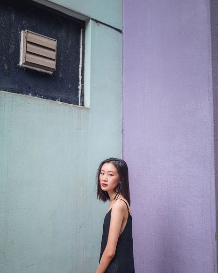 pantone Portrait One Person One Woman Only Outdoors Pastel Power Light_Collection Light The Week On EyeEm Ordinary Life Street Hong Kong Ordinary People Portrait Photography Portrait Of A Woman Women Around The World Beautiful People Color Colour Of Life Pastel Palette Pantone Girl