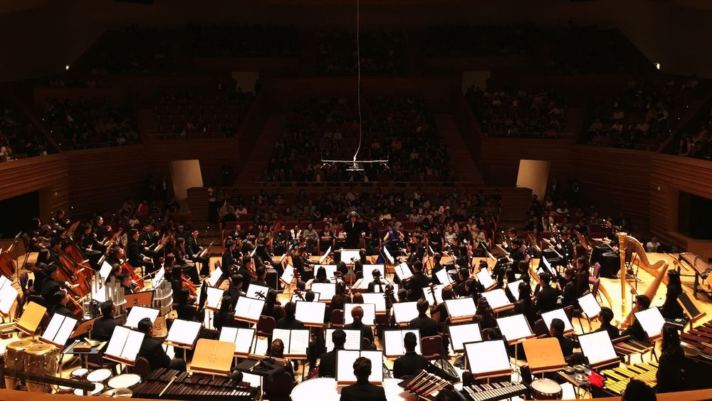 上海交响音乐厅 Crowd Large Group Of People Real People Stage Auditorium Music High Angle View Indoors  Musician Audience