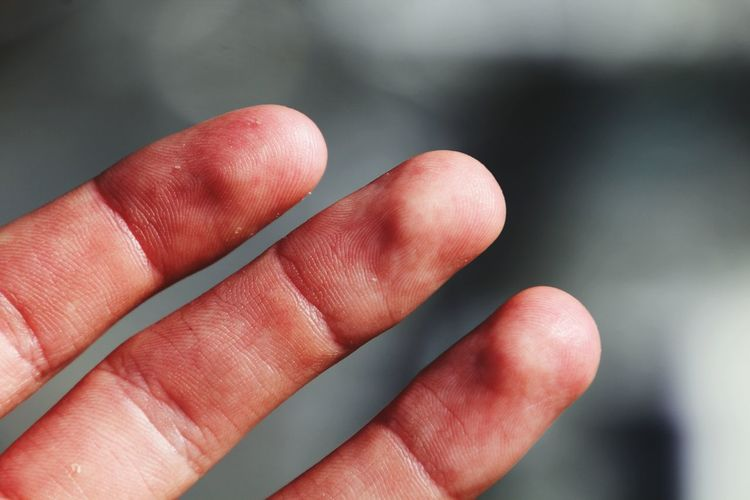 Close-up of fingers