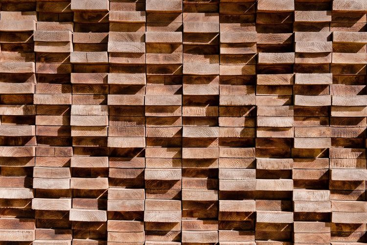 EyeEmNewHere EyeEmNewHere Backgrounds Full Frame No People Pattern Textured  Indoors  Brown Wood - Material Design Repetition Flooring Shape Large Group Of Objects Close-up Geometric Shape Wood Abstract In A Row Art And Craft Abstract Backgrounds EyeEmNewHere