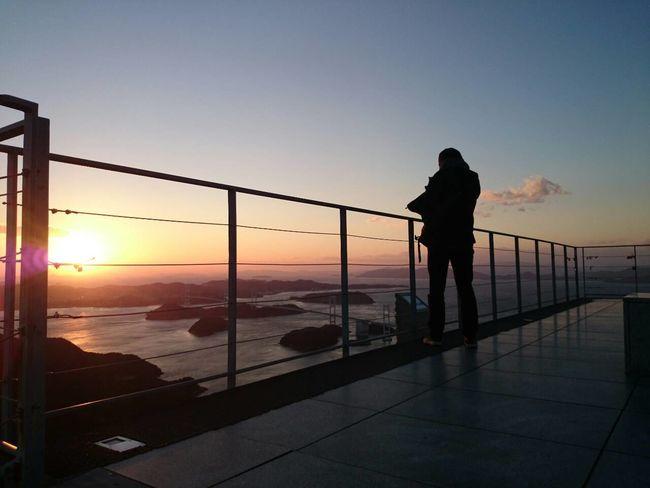 しまなみ海道の亀老山展望台より。 Sunset Landscape Thats Me  Taken By Friend Good Days  Shimanami Travel Photography Sky And Sea Wonderful Place Wonderful Days Travelphotography Hello World Enjoying Life Showcase: February