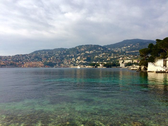 Villefranche (vue de Passable) Water Sky Building Exterior Architecture City Waterfront Built Structure Cityscape Sea Outdoors Cloud - Sky No People Mountain Scenics Beauty In Nature Residential Building Nature Day