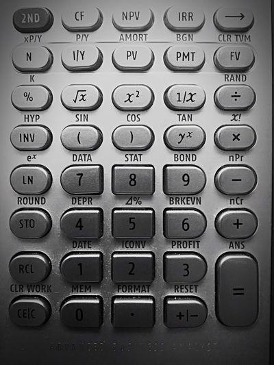 Calculator keyboard Calculator Push Button Technology Full Frame Backgrounds Close-up Computer Key Computer Keyboard Control Panel
