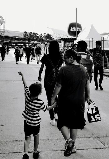 Rear View Real People Outdoors Sea Beach People Day Togetherness Crowd Monochrome Blackandwhite Black And White Black & White Architecture Travel Destinations Water Vacations Shopping Day Shopping