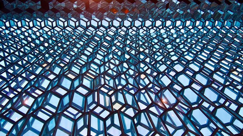 Harpa Reykjavik Iceland Concert Hall  Glass Design Pattern Harpareykjavik Harpa Concert Hall Iceland_collection Iceland Memories Iceland Trip North Europe Artistic Cool Building Looking Up Glass Art Wall EyeEm Gallery Iceland, Reykjavik Europe Trip Beautiful Place Good Times Cool_capture_ アイスランド