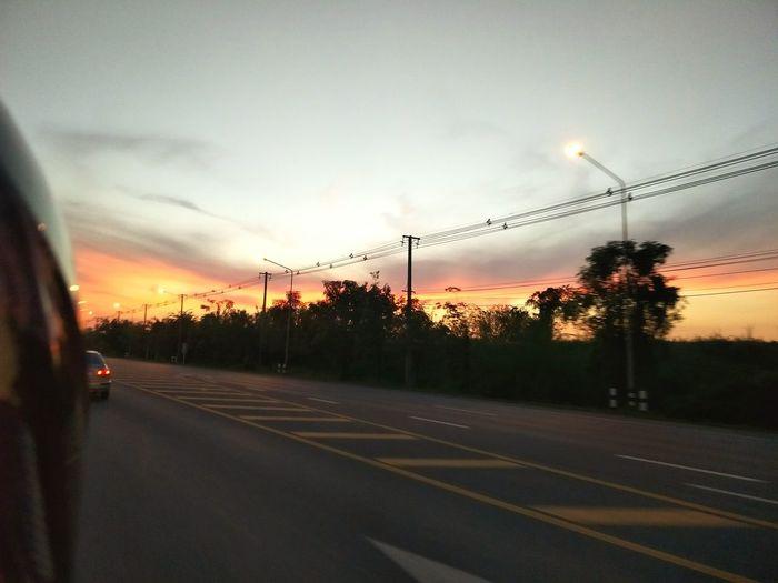 Cloud - Sky Sunset Sky Tree No People City Outdoors