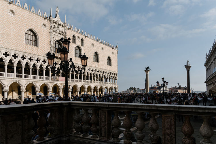 Venice Venice, Italy Eurotrip Europa European  Built Structure Architecture Building Exterior Sky Tourism Building Travel Destinations Travel History Arch Nature The Past City Day Railing Cloud - Sky Outdoors Place Of Worship Balustrade Architectural Column
