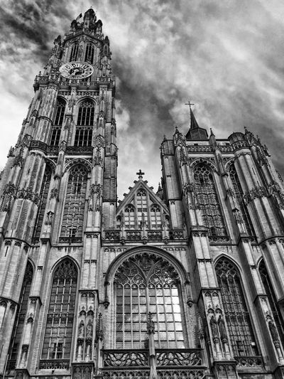 First Eyeem Photo City City Street Blackandwhite Building Church Tourism Religion Anterwep