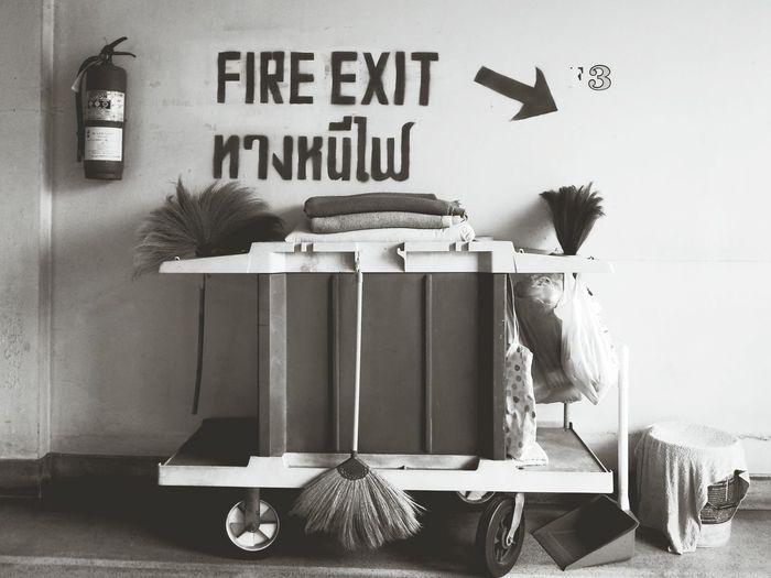Exit Sign Bangkok Hotel