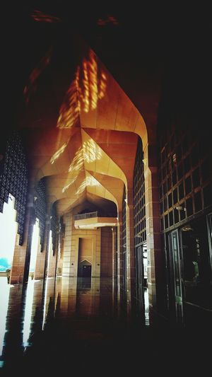 The reflection is the scene of beauty in the mosque. ArchitectureBuilt Structure No People Indoors  Low Angle View Day Close-up Fotofon The Week On EyeEm Personal Perspective Building Exterior Indoors  Outdoor Photography Mosque Architecture Mosque Photography PutraMosque Putrajaya,malaysia Islamic Architecture Islamic Design Islamicstyle Enlightenment Islamic Art Islamic House Of Prayer Beauty Redefined EyeEm Best Shots Paint The Town Yellow