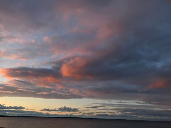 Scenics Beauty In Nature Sunset Sky Cloud - Sky Tranquility Nature Tranquil Scene Dramatic Sky No People Outdoors Sea Water Horizon Over Water Day