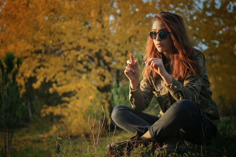 Autumn forest..დიღმის ტყე 😍😌😊 Tbilisi Autumn Forest Woman Georgia