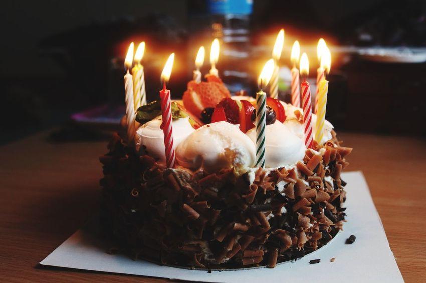 Birthday Cake Birthday Celebration Cake Candle Birthday Candles Fruit Cake♥ Birhday Day EyeEm EyeEm Gallery Colors Of Cake EyeEmNewHere