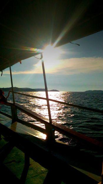 The boat to Koh larn. sun, sea, boat trip