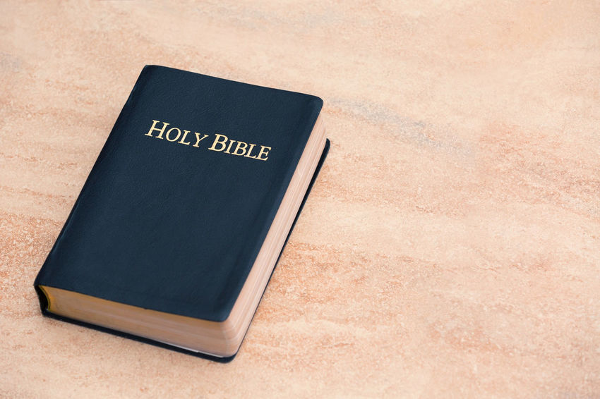Holy Bible on Sandstone Christian Faith KING JAMES Spirituality Testament Truth Wisdom Word Of God Belief Bible Gospel Holy Kjv Religion Scripture