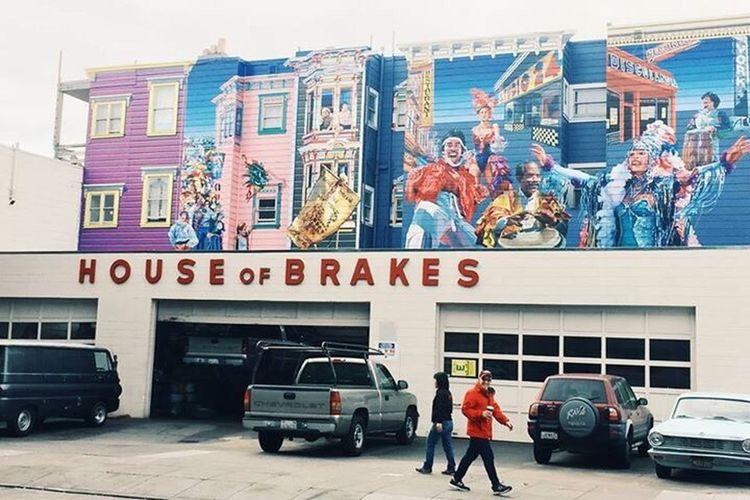 Cars The Drive Sanfrancisco Werkstatt USA Graffiti Graffiti Art House Of Brakes