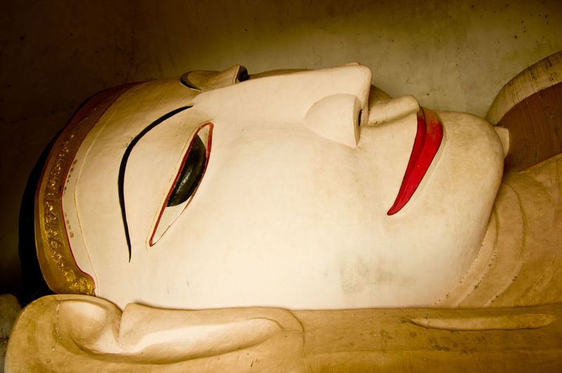 Reclined Statue World Heritage Bagan, Myanmar Buddha Statue Buddhism Burma Indoors  No People Red Travel Destinations