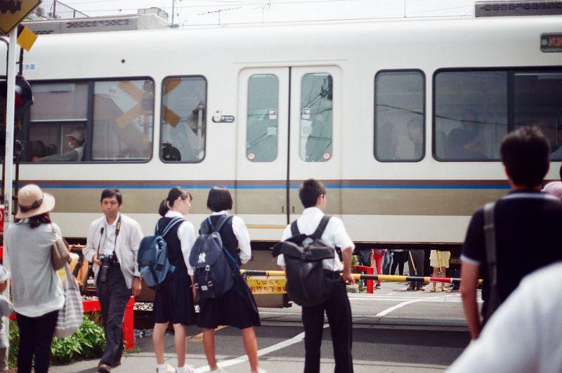 City Life Densha Japan Kyoto Student Train - Vehicle Transportation