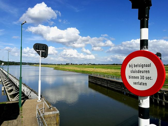 Colors Of Life Color Photography Color PaletteMyweekoneyeem Water Sky Sky And Clouds Clouds Dutch Dutch Landscape Dutch Nature Landscape Nature Travel Sign Signs Tresspass Tresspasser Typical Dutch Life River River View Riverside Riverwalk Rijn