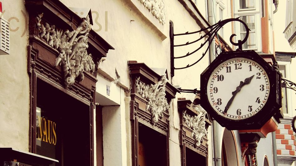 Result no. 1 of my phototour Clock Time Built Structure Building Exterior Architecture Low Angle View Minute Hand Store Business Finance And Industry No People Outdoors Clock Face Photography Regional Retro Vintage Old But Gold Old Buildings Old Town Old-fashioned Saxony Anhalt Sachsen-Anhalt Naumburg Cityscapes City Street
