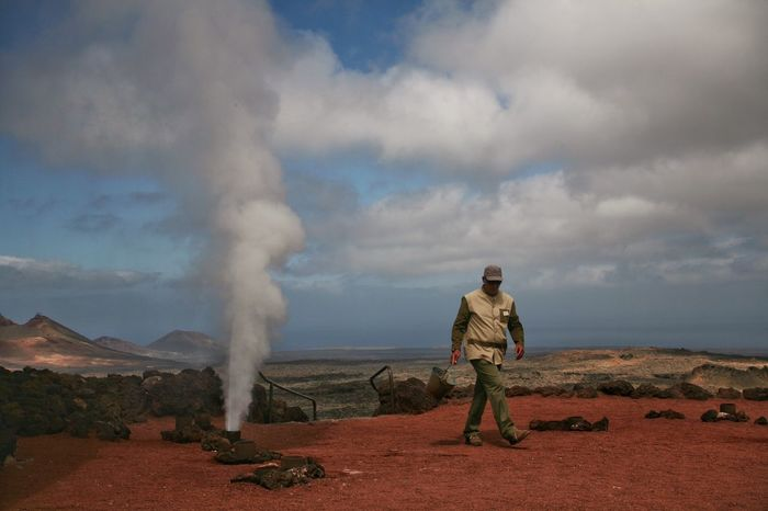 43 Golden Moments Timanfaya Lanzarote Island People And Places Miles Away
