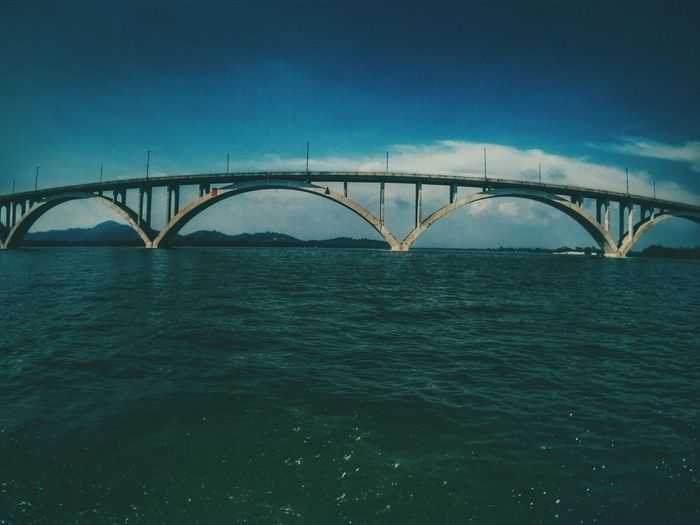 Hello World Relaxing Hanging Out Malaysia Scenery Enjoying Life Sea And Sky Sea_collection Check This Out Under The Bridge Stone Structure