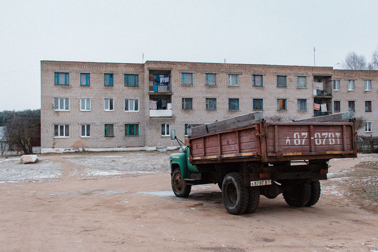 Back in USSR. Belarus-2018 Belarus Communism Hopeless Modern Times Old Truck Poor  USSR, Architecture Back In Ussr Built Structure Day Gray No People Truck