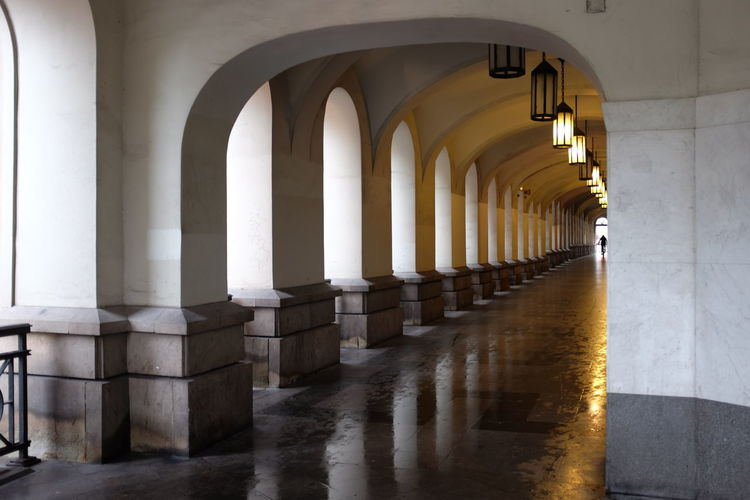 Arch Architectural Column Architectural Feature Architecture Building Built Structure Column Corridor Day Diminishing Perspective Empty Historic In A Row Narrow No People Repetition The Way Forward Vanishing Point