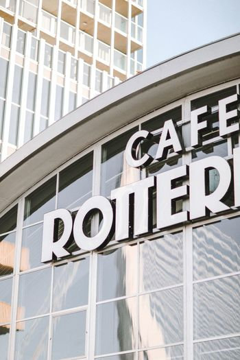 Rotterdam Architecture Built Structure Communication Sign Building Exterior Western Script Text Building Wall - Building Feature Capital Letter Guidance Information Outdoors Boundary Barrier Safety Low Angle View Day No People Fence