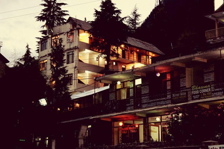 Night walk at club house, Manali