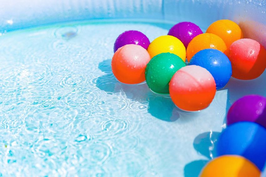 EyeEm Selects Multi Colored Swimming Pool Blue Water Canon6d Pool Ball Japan