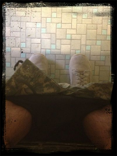 Sitting On The Toilet