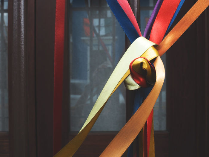 Close-Up Of Colorful Ribbons