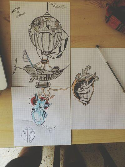 Tatoo ArtWork Painterly Dessins De Ma Main Droite #art #drawing #hands #crayons ✏