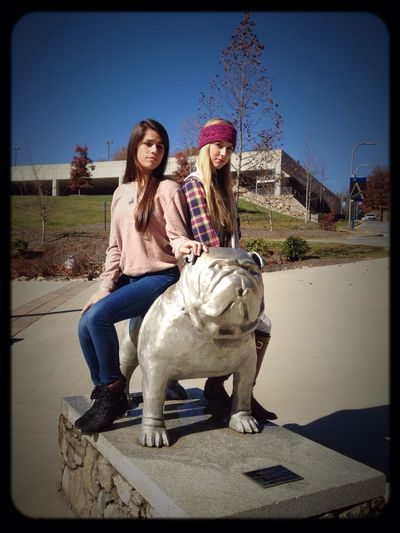 Bae  Models College Visit  Rocky The Bulldog