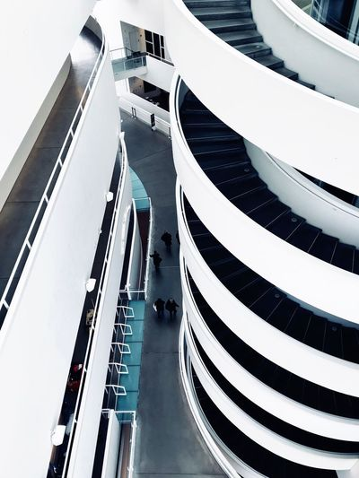 Curves And Lines ARos Art Museum Modern Architecture ShotOnIphone Architecture High Angle View Built Structure Day Large Group Of People Building Exterior Outdoors