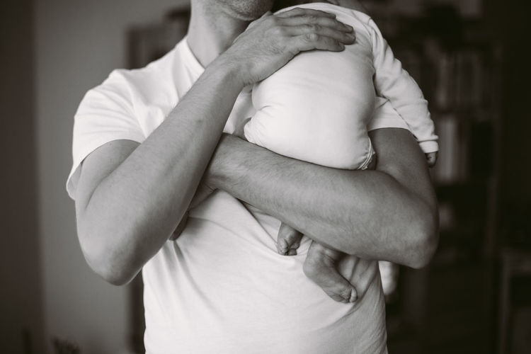 Father holding