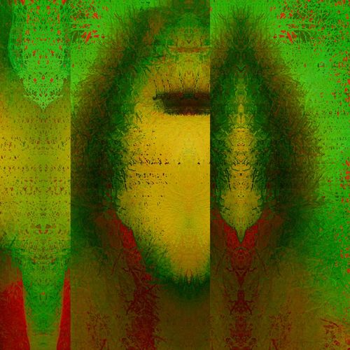 The green series and how we can camouflage our beings1. Portrait Of A Woman Abstractart Wings On Thoughs The Green Series Behind The Masks NEM BadKarma Abstractions In Colors Wishing Wednesday Was Friday