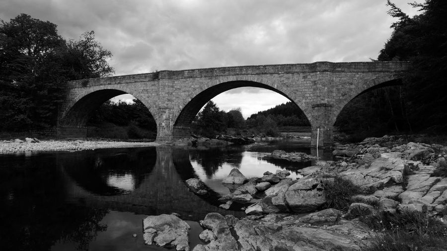 Scotland My Best Photo Water Bridge Arch Bridge - Man Made Structure Reflection Built Structure River Nature Outdoors Schotland Black And White Rocks