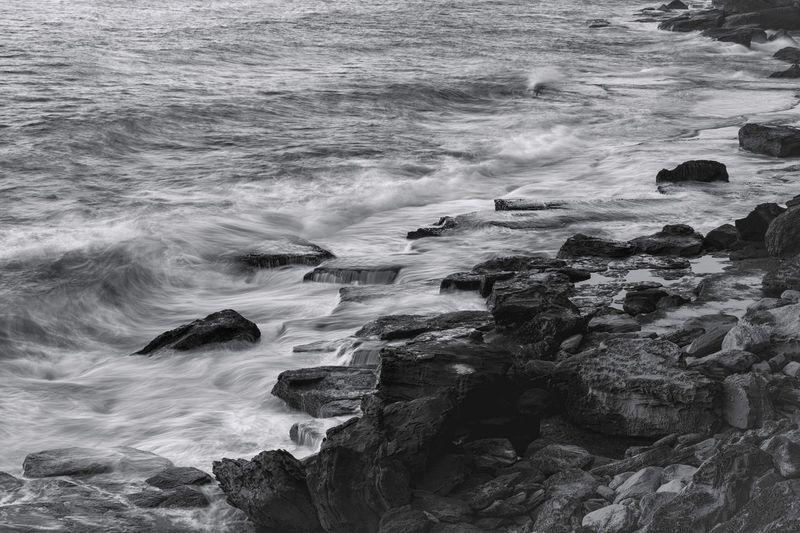 Water Wave Beauty In Nature Motion Beach No People Outdoors Monochromatic Monochrome Photography Mono Long Exposure Black And White Fujifilm_xseries FUJIFILM X-T1 Fujifilm Fuji XF 18-55mm/f2.8-4 R LM OIS