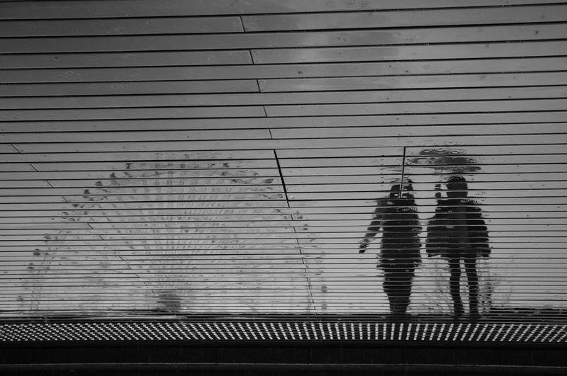 Blackandwhite Monochrome Rain Reflection Street Streetphoto_bw Streetphotography Yokohama