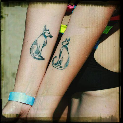 Tattoo ArtWork Bastet Anubis