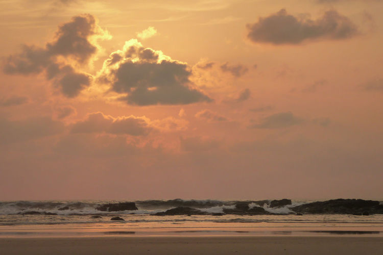 Sunset Beach Water Sea Sunlight Sand Sky Low Tide Seascape Coast Dramatic Sky This Is Latin America
