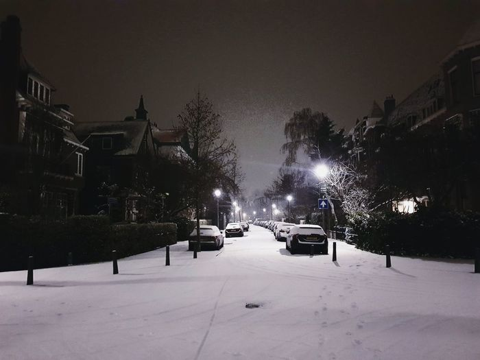My neighbourhood covered by snow Snow Snow ❄ Snowing Snow Covered Neighborhood Streetphotography Street Street Photography Illuminated Light Light And Shadow Night Nightphotography Night Lights Nightlife Calm Architecture Architectural Column Architecture_collection House Built Structure Building Exterior EyeEm Best Shots Cold Temperature Winter Tranquil Scene Tranquility Wintertime Frost The Way Forward